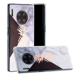 Voor Huawei mate 30 Hot stempelen geometrische marmer IMD ambachtelijke TPU beschermhoes (ananas)