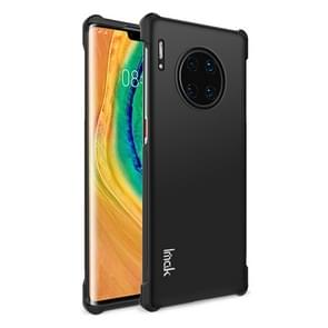 For Huawei Mate 30 Pro Four Corners Anti-Fall All-Inclusive Shockproof Airbag TPU Protective Case(Metal Black)