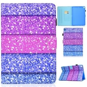 For iPad 10.2 inch Colored Drawing Horizontal Flip Leather Case with Holder & Card Slots & Pen Slot & Sleep / Wake-up Function(Color Quicksand)