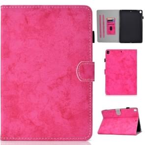 For iPad 10.2 inch Solid Color Horizontal Flip Leather Case with Holder & Card Slots & Pen Slot & Sleep / Wake-up Function(Rose Red)