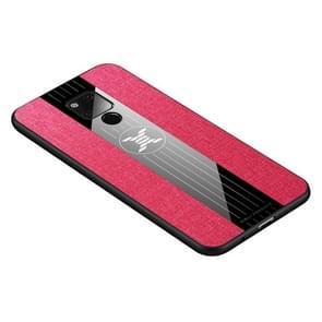 For Huawei Mate 20 X XINLI Stitching Cloth Textue Shockproof TPU Protective Case(Red)