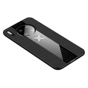 For Huawei Mate 30 XINLI Stitching Cloth Textue Shockproof TPU Protective Case(Black)