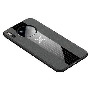 For Huawei Mate 30 XINLI Stitching Cloth Textue Shockproof TPU Protective Case(Grey)