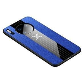 For Huawei Mate 30 XINLI Stitching Cloth Textue Shockproof TPU Protective Case(Blue)