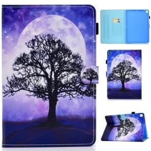 For iPad 10.2 inch Colored Drawing Horizontal Flip Leather Case with Holder & Card Slots & Pen Slot & Sleep / Wake-up Function(Life Tree)