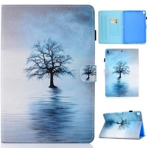 For iPad 10.2 inch Colored Drawing Horizontal Flip Leather Case with Holder & Card Slots & Pen Slot & Sleep / Wake-up Function(Tree in Water)