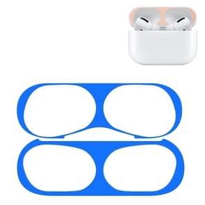 Voor Apple AirPods Pro Wireless Oortelefoon Beschermhoes Metalen beschermende sticker (Blauw)