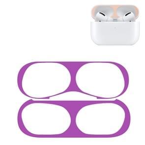 Voor Apple AirPods Pro Wireless Earphone Protective Case Metal Protective Sticker(Purple)