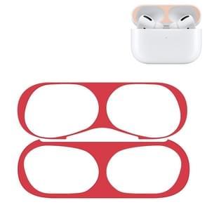 Voor Apple AirPods Pro Wireless Oortelefoon Beschermhoes Metalen beschermende sticker (Rood)