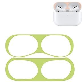 Voor Apple AirPods Pro Wireless Oortelefoon Beschermhoes Metalen beschermende sticker(Groen)