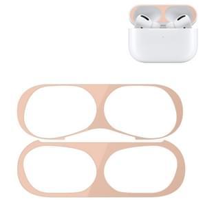 Voor Apple AirPods Pro Wireless Oortelefoon Beschermhoes Metalen beschermende sticker (Vleeskleur)