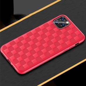Voor iPhone 11 USAMS US-BH544 GOME serie geruite textuur TPU volledige dekking beschermende case (rood)