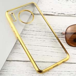 For Huawei Mate 30 Transparent TPU Anti-Drop And Waterproof Mobile Phone Protective Case(Gold)