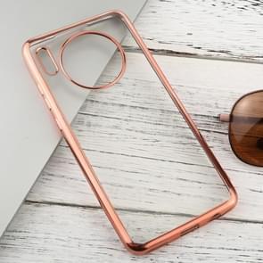 Voor Huawei mate 30 transparante TPU anti-drop en waterdichte mobiele telefoon beschermende case (Rose Gold)