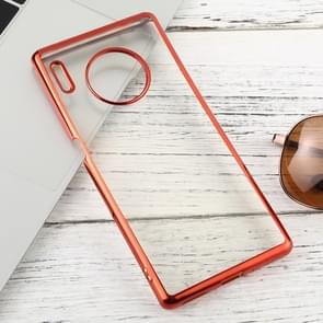 For Huawei Mate 30 Pro Transparent TPU Anti-Drop And Waterproof Mobile Phone Protective Case(Red)