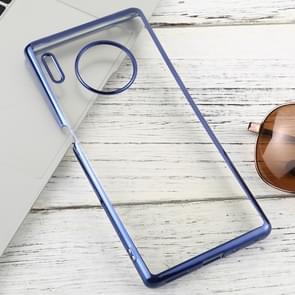 For Huawei Mate 30 Pro Transparent TPU Anti-Drop And Waterproof Mobile Phone Protective Case(Blue)