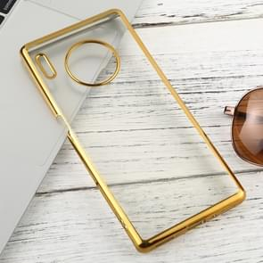 For Huawei Mate 30 Pro Transparent TPU Anti-Drop And Waterproof Mobile Phone Protective Case(Gold)