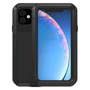 Voor iPhone 11 LOVE MEI metaal schokbestendig waterdicht stofdichte beschermhoes (zwart)