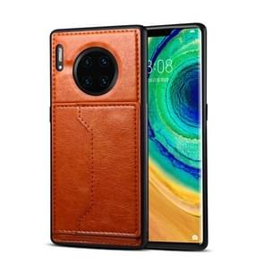 For Huawei Mate 30 Pro Dibase Crazy Horse Texture Protective Case, with Holder & Card Slots(Brown)