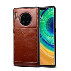 For Huawei Mate 30 Pro Dibase Crazy Horse Texture Protective Case, with Holder & Card Slots(Coffee)