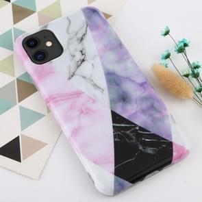 Voor iPhone 11 marmer patroon TPU Protecitve geval (zwarte textuur)
