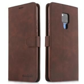 Voor Huawei mate 20 X 5G Diaobaolee pure verse textuur horizontale Flip leergeval  met houder & kaartsleuf & portemonnee & fotolijstjes (bruin)