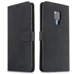 Voor Huawei mate 20 X 5G Diaobaolee pure verse textuur horizontale Flip leergeval  met houder & kaartsleuf & portemonnee & fotolijstjes (zwart)