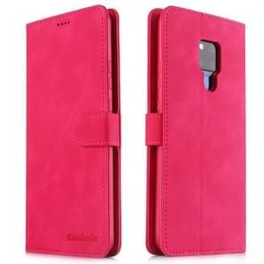 Voor Huawei mate 20 X 5G Diaobaolee pure verse textuur horizontale Flip leergeval  met houder & kaartsleuf & portemonnee & fotolijstjes (rood)