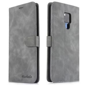 Voor Huawei mate 20 X Diaobaolee zuivere verse textuur horizontale Flip leergeval  met houder & kaartsleuf & portemonnee & fotolijstjes (grijs)