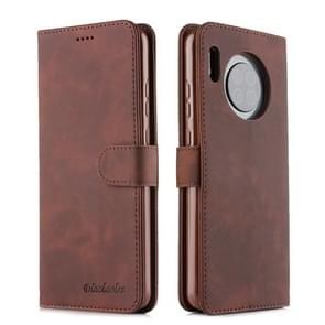 For Huawei Mate 30 Diaobaolee Pure Fresh Texture Horizontal Flip Leather Case, with Holder & Card Slot & Wallet & Photo Frame(Brown)