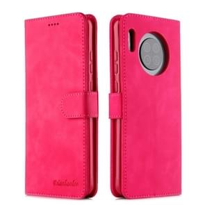 For Huawei Mate 30 Diaobaolee Pure Fresh Texture Horizontal Flip Leather Case, with Holder & Card Slot & Wallet & Photo Frame(Red)