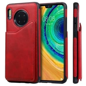 For Huawei Mate 30 Calf Texture Horizontal Flip Leather Case with Holder & Card Slots & Frame(Red)