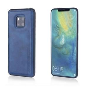 For Huawei Mate 20 Pro Diaobaolee Shockproof PU + TPU Protective Case(Blue)
