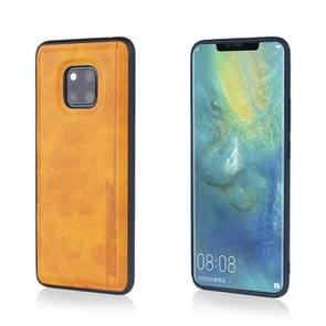 For Huawei Mate 20 Pro Diaobaolee Shockproof PU + TPU Protective Case(Yellow)