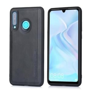 For Huawei P30 Lite / nova 4e Diaobaolee Shockproof PU + TPU Protective Case(Black)