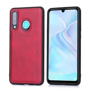 For Huawei P30 Lite / nova 4e Diaobaolee Shockproof PU + TPU Protective Case(Red)