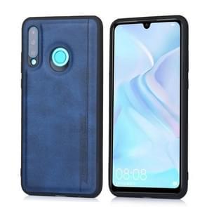 For Huawei P30 Lite / nova 4e Diaobaolee Shockproof PU + TPU Protective Case(Blue)