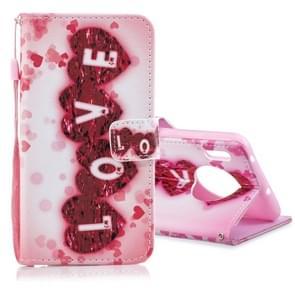 Voor Huawei mate 30 gekleurde tekening patroon horizontale Flip PU lederen draagtas met houder & kaartsleuven & portemonnee & Lanyard (liefde)