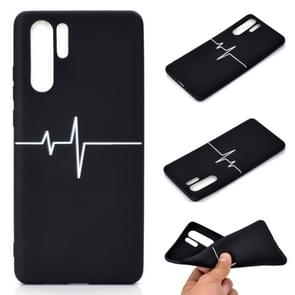 For Huawei P30 Pro Shockproof Stick Figure Pattern Soft TPU Protective Case(Heart Rate)