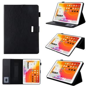 For iPad Pro 10.5 inch / iPad 10.2 Business Style Horizontal Flip Leather Case with Holder & Card Slot & Photo Frame & Wallet & Hand Strap & Sleep / Wake-up Function(Black)