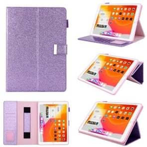 For iPad Pro 10.5 inch / iPad 10.2 Business Style Horizontal Flip Leather Case with Holder & Card Slot & Photo Frame & Wallet & Hand Strap & Sleep / Wake-up Function(Purple)