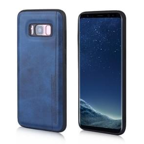 For Galaxy S8 Diaobaolee Shockproof PU + TPU Protective Case(Blue)