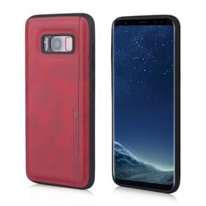 For Galaxy S8 Diaobaolee Shockproof PU + TPU Protective Case(Red)