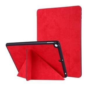 Voor iPad 10 2 inch zijde textuur horizontale vervorming Flip lederen draagtas met houder & pen sleuf (rood)