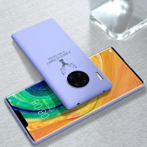 For Huawei Mate 30 Pro Elk Pattern Ultra-thin Soft TPU Full Coverage Protective Case(Lavender Purple)