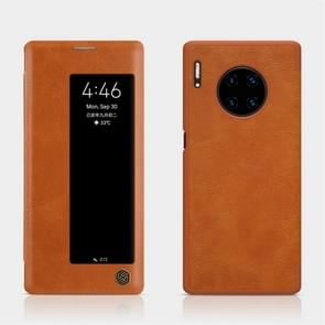 For Huawei Mate 30 Pro NILLKIN QIN Series Crazy Horse Texture Horizontal Flip Leather Case(Brown)