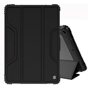 For iPad 10.2 NILLKIN Full Coverage Horizontal Flip Leather Case with Holder & Pen Slot & Sleep / Wake-up Function(Black)