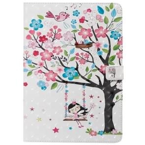 For iPad 10.2 / Pro 10.5 / Air 2019 3D Colored Drawing Horizontal Flip Leather Case with Holder & Card Slots & Wallet & Sleep / Wake-up Function(Girl Under The Tree)