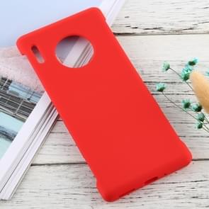 For Huawei Mate 30 Pro Solid Color Silicone + PC Shockproof Protective Case(Red)