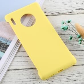 For Huawei Mate 30 Pro Solid Color Silicone + PC Shockproof Protective Case(Yellow)